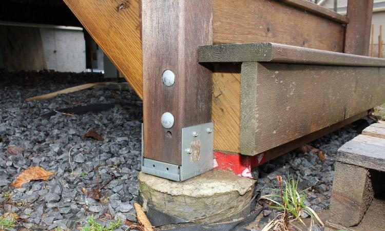 Railing post anchors