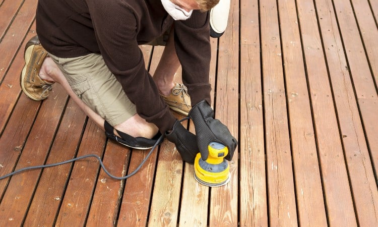 How To Sand Wood Deck