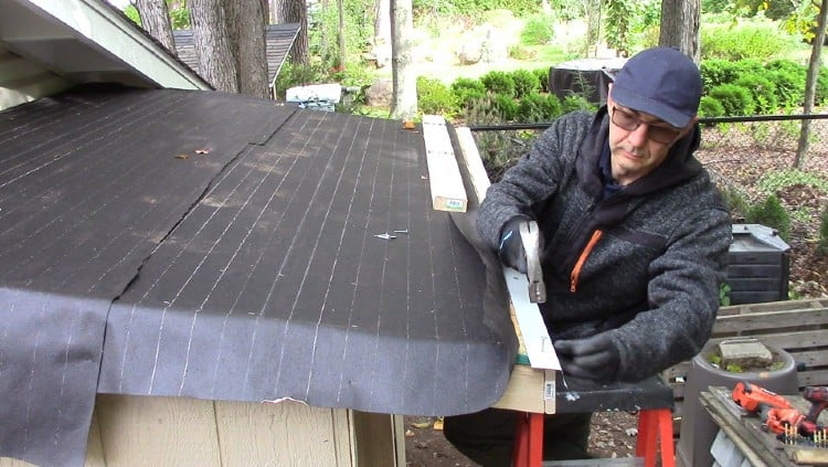 How to install roof felt and drip edge