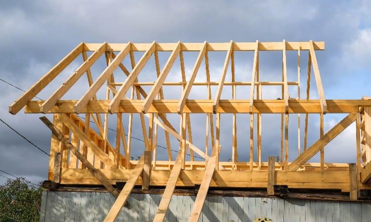 Ridge board with rafters