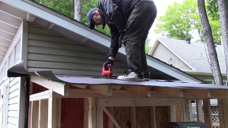Roof paper installation