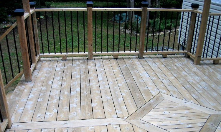 Sanding a deck before staining