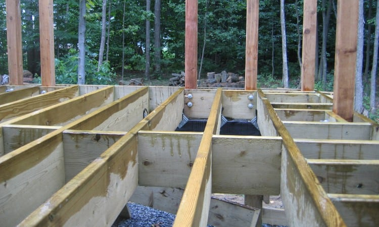 Deck joist blocking methods