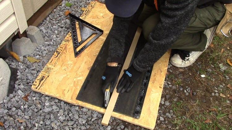 How to make ridge cap shingles