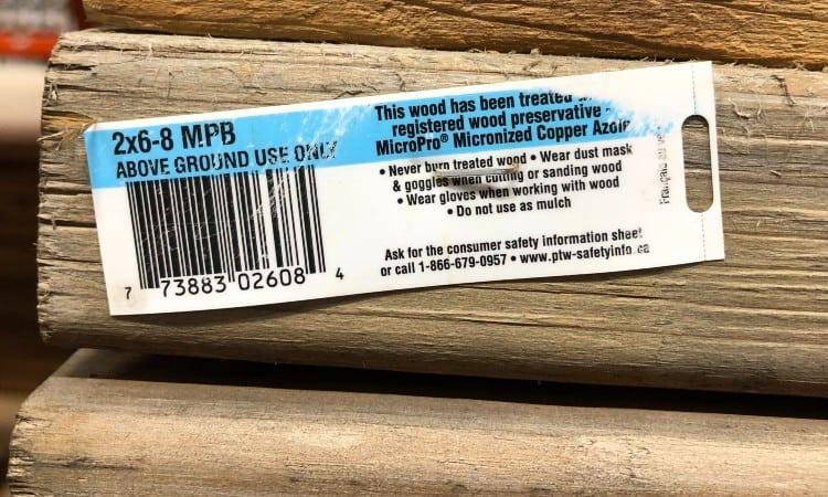 Treated lumber grades