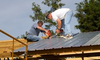 Installing Metal Roofing Shed