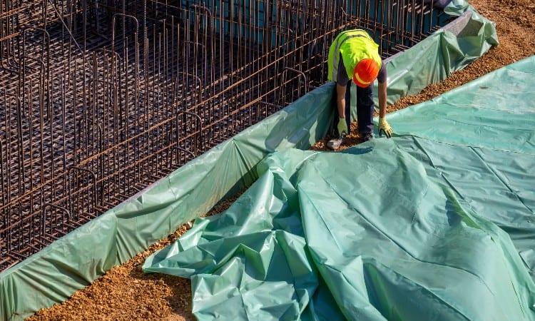 Concrete vapor barrier