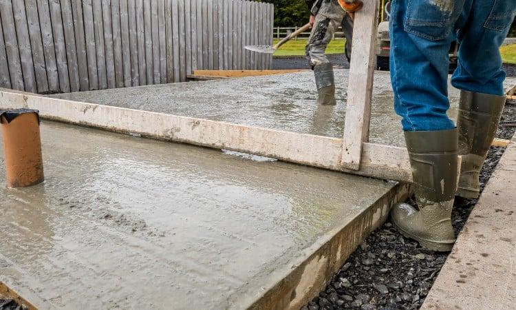 Gravel for concrete base