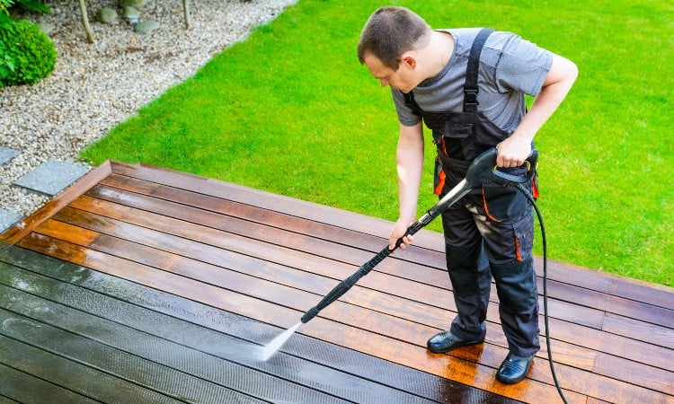How to remove black mold from wood deck