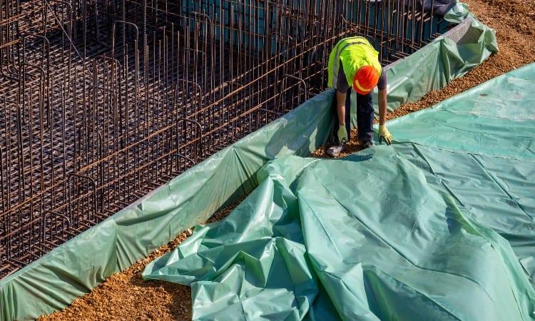 Preparing ground for concrete slab
