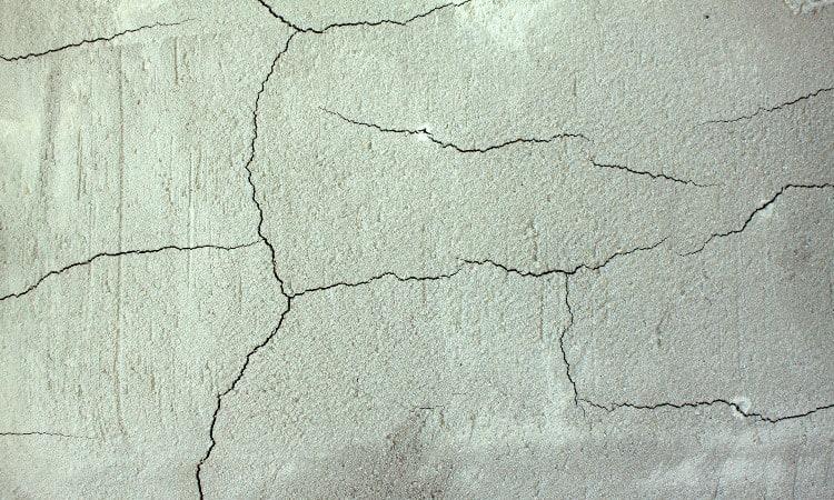 Rain after pouring concrete