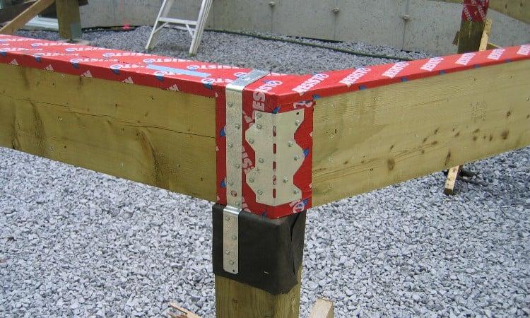 Splicing wood beams