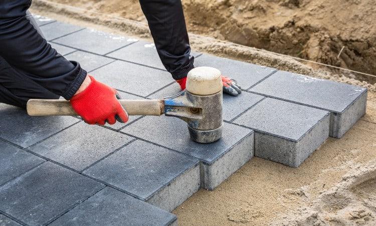 Concrete versus pavers