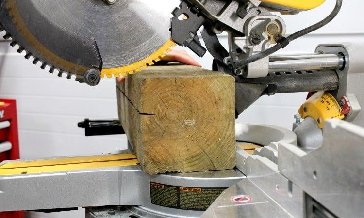 Cutting 6x6 with Miter Saw
