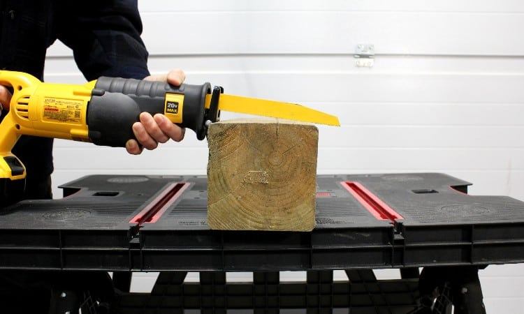 Cutting 6x6 with reciprocating saw