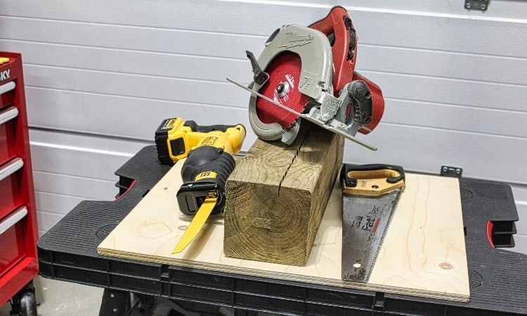 How to cut 6×6 post