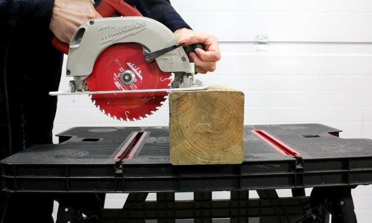 How to cut a 6x6 with a circular saw