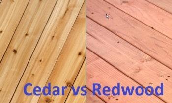 Cedar versus Redwood