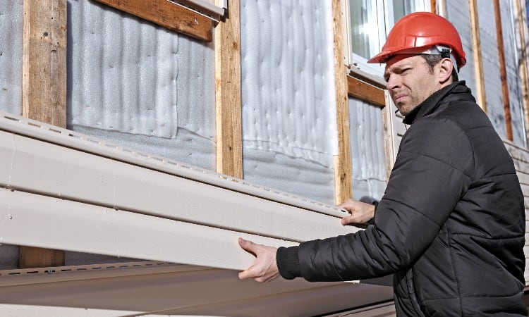 How big is a square of siding