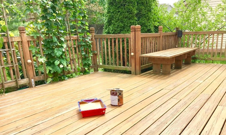 Temperature for staining deck