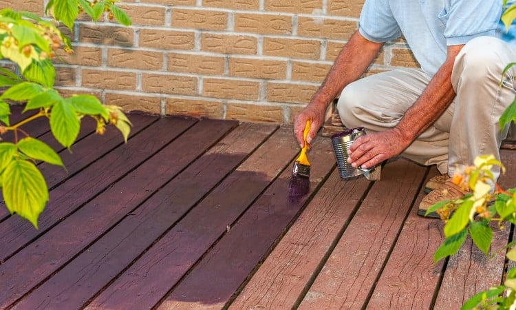 How long does deck stain need to dry