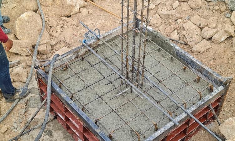 Rebar In Concrete Footings