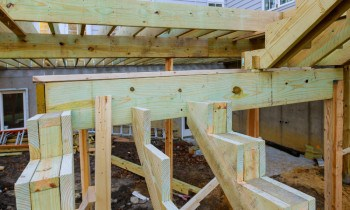 Attach Stair Stringers To Deck
