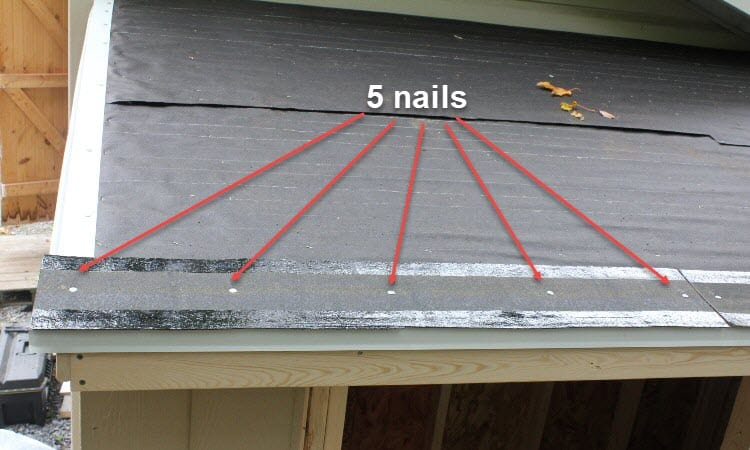 How many nails per square of shingles