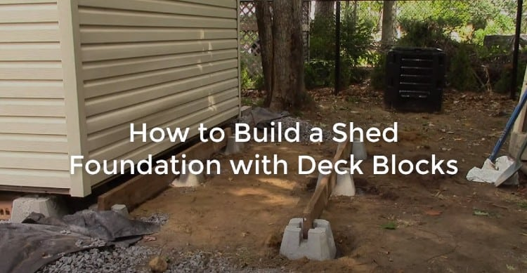 Shed foundation with deck blocks