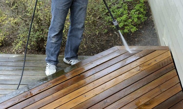 Should i pressure wash my deck