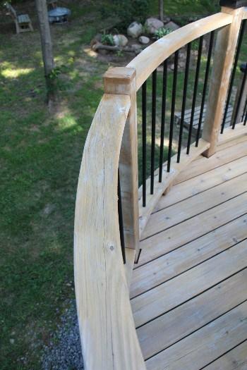 Wash deck railings